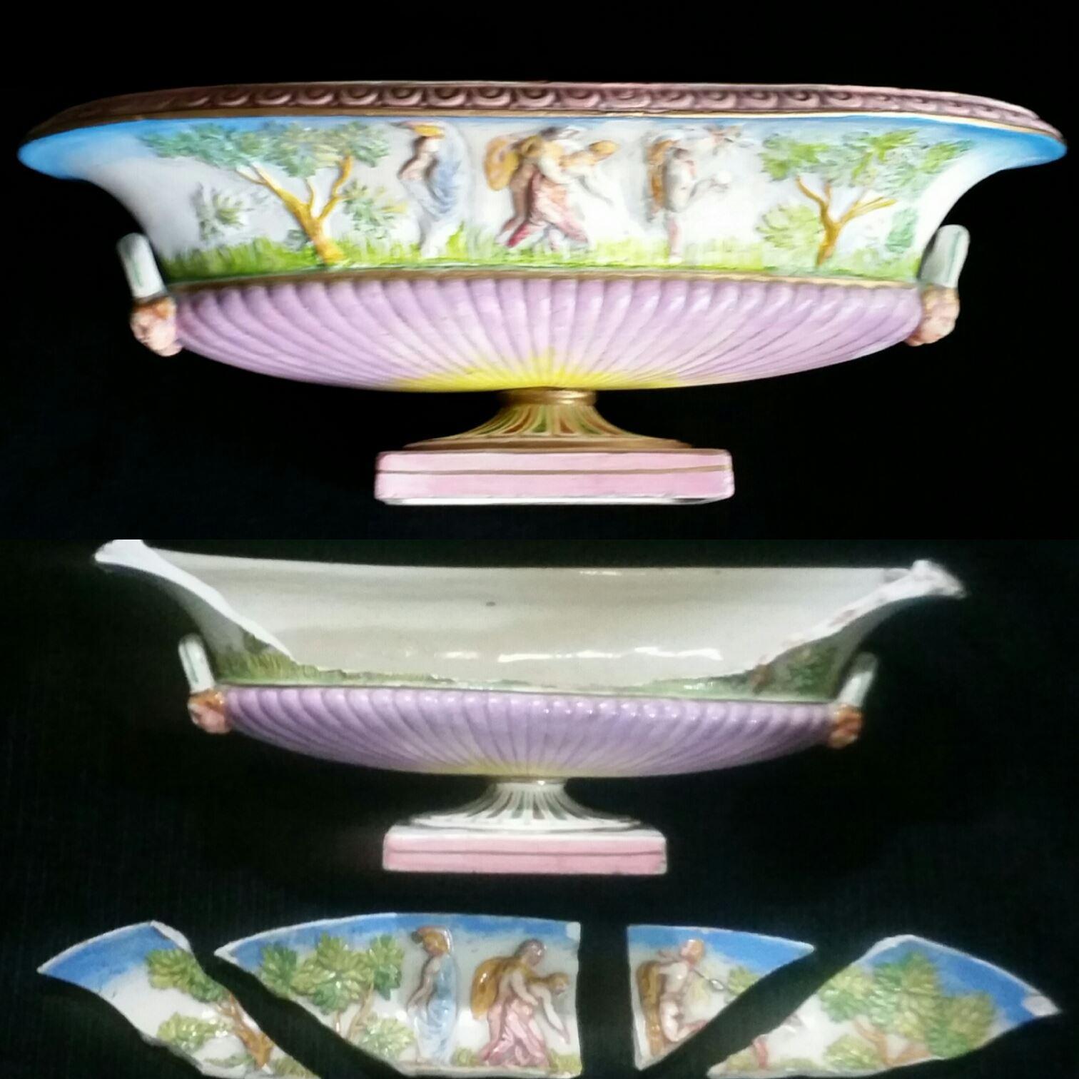 Restaura o de porcelana italiana capo di monte italia for Porcelana italiana